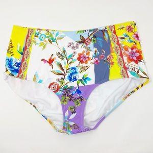 JOHNNY WAS Roxy High Waist Bottom XXL Bikini New